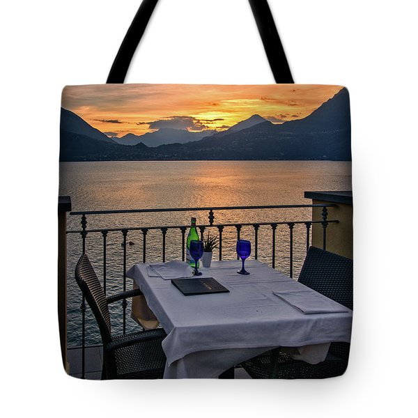 Sunset Dining Tote Bag