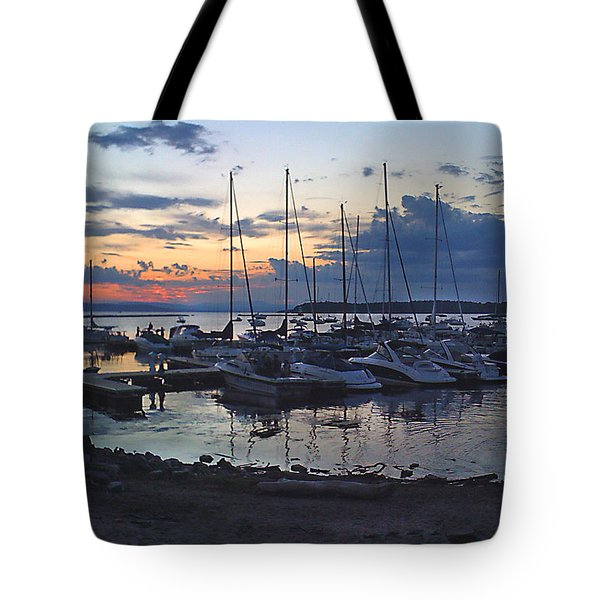 Tote Bag featuring the photograph Sunset Dock by Felipe Adan Lerma