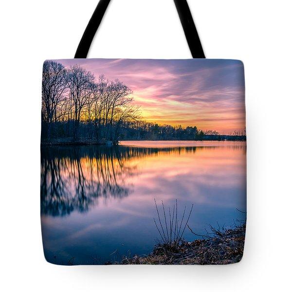 Sunset-dorothy Pond Tote Bag