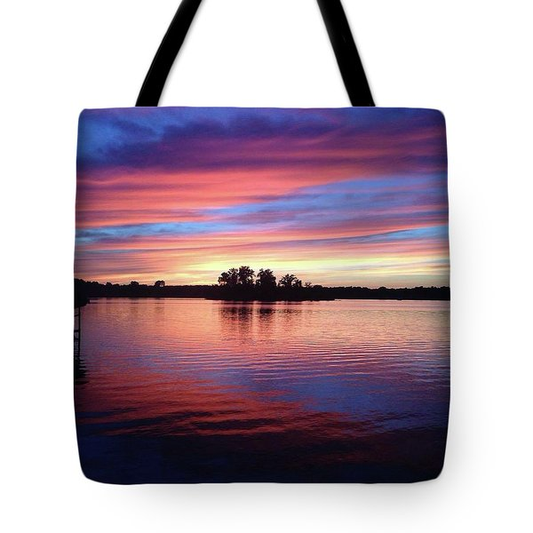 Tote Bag featuring the photograph Sunset Dreams by Rebecca Wood