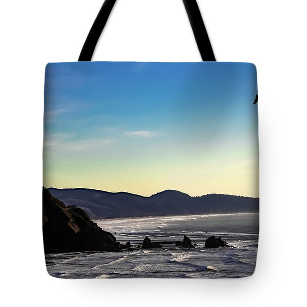 Sunset Eagle Tote Bag by Jon Burch Photography