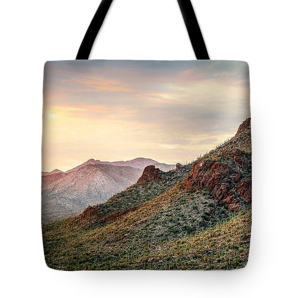 Tote Bag featuring the photograph Sunset by Elaine Malott