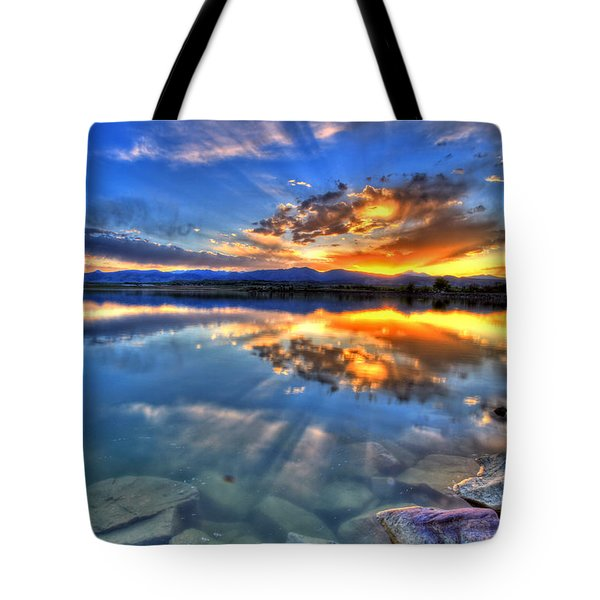 Sunset Explosion Tote Bag by Scott Mahon