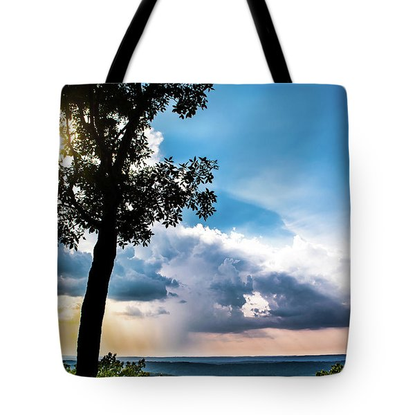 Tote Bag featuring the photograph Sunset Explosion by Shelby Young