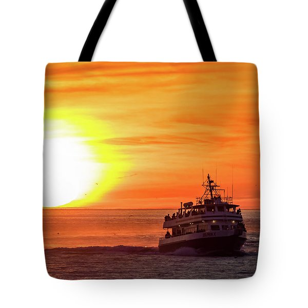 Sunset Ferry Tote Bag