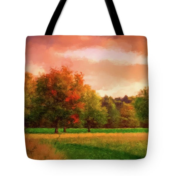 Sunset Field Tote Bag