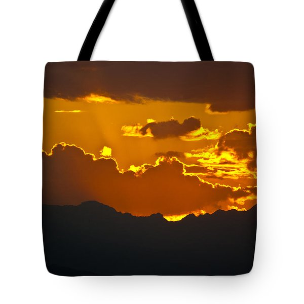 Sunset Fire Tote Bag by Colleen Coccia