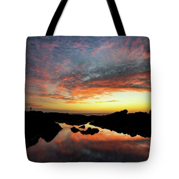 Sunset Fisherman Tote Bag