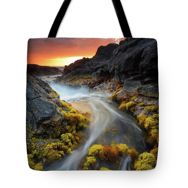 Sunset Flow Tote Bag