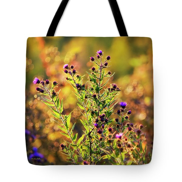 Tote Bag featuring the photograph Sunset Flowers by Christina Rollo