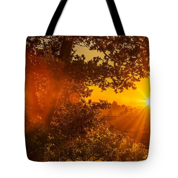 Sunset Fog Over The Pacific #3 Tote Bag