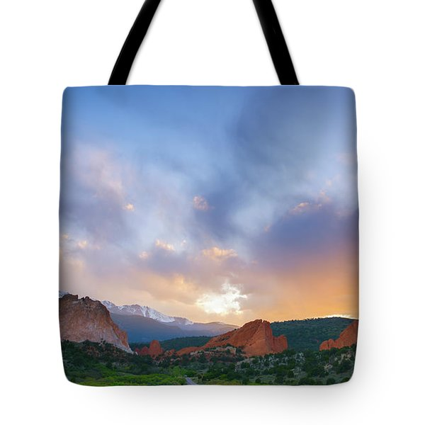 Tote Bag featuring the photograph Sunset Forever by Tim Reaves
