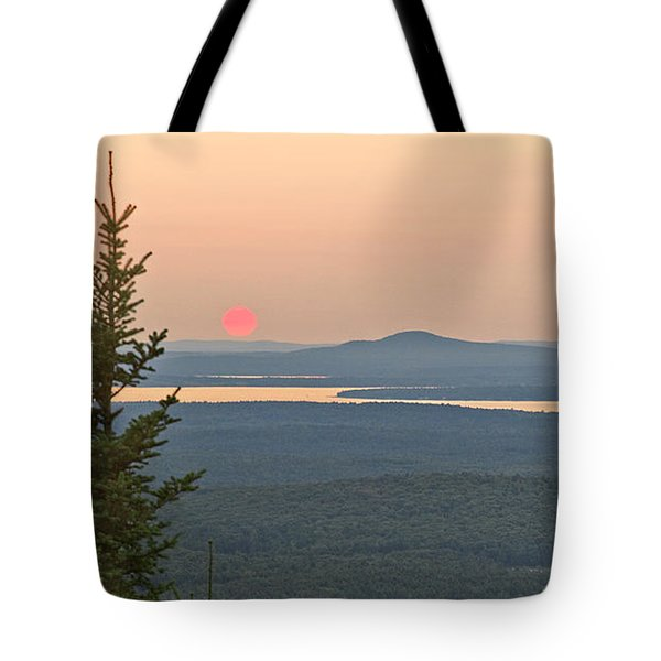 Sunset From Cadillac Mountain Tote Bag