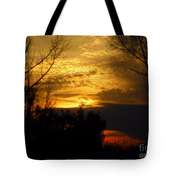 Sunset From Farm Tote Bag