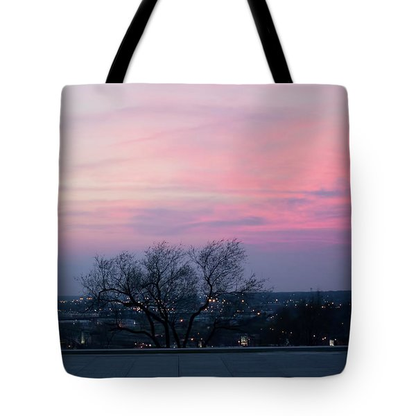 Sunset From Liberty Memorial Tote Bag