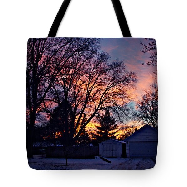 Sunset From My View Tote Bag by Kathy M Krause