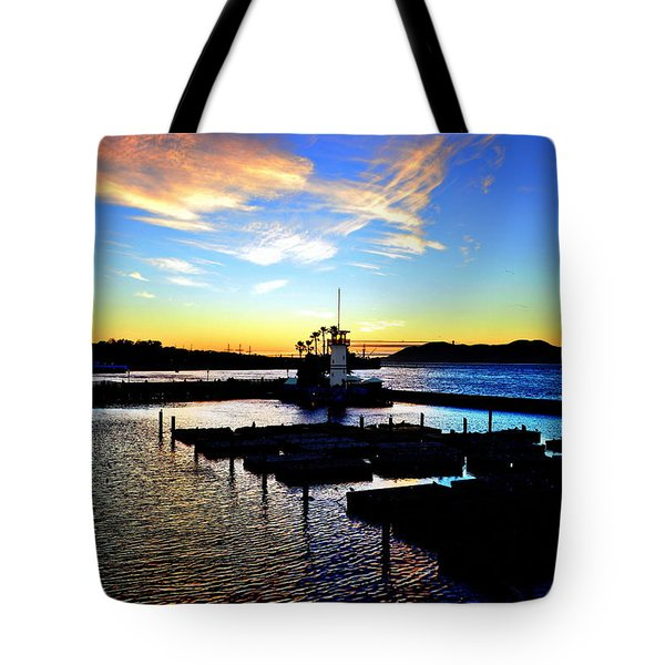 Tote Bag featuring the photograph Sunset From Pier 39 - San Fransisco by Glenn McCarthy Art and Photography