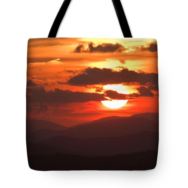 Sunset From The Blue Ridge Parkway Tote Bag by John Harmon