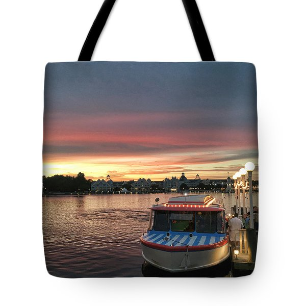 Sunset From The Boardwalk Tote Bag