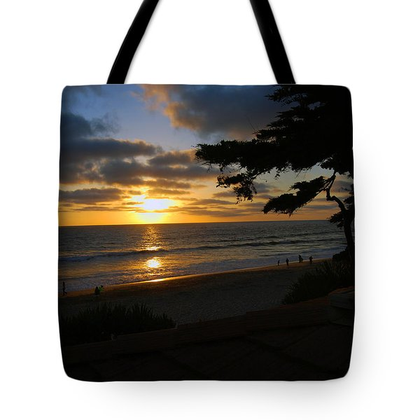 Sunset From The Staircase Tote Bag