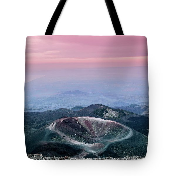 Sunset From The Top Of The Etna Tote Bag