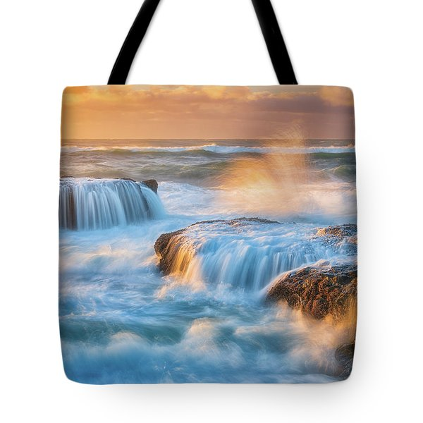 Tote Bag featuring the photograph Sunset Fury by Darren White