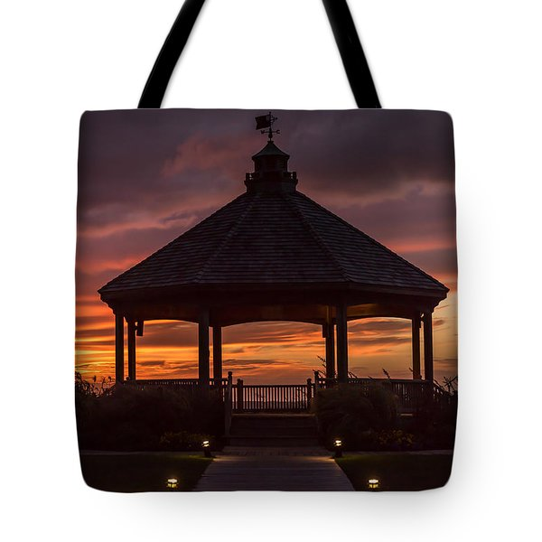 Sunset Gazebo Lavallette New Jersey Tote Bag