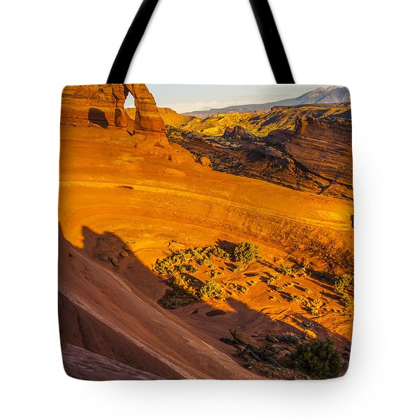 Sunset Glow On Delicate Arch Tote Bag