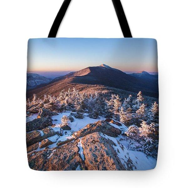 Sunset Glow On Franconia Ridge Tote Bag