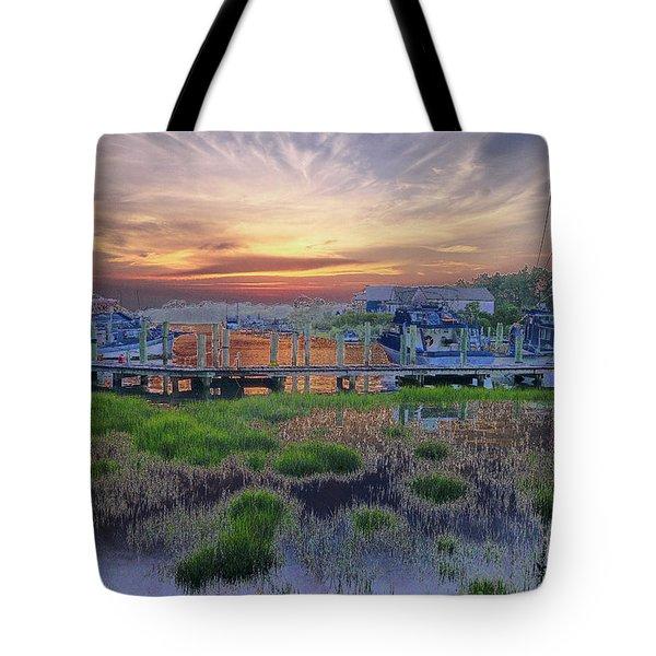 Sunset Harbor Dream Tote Bag