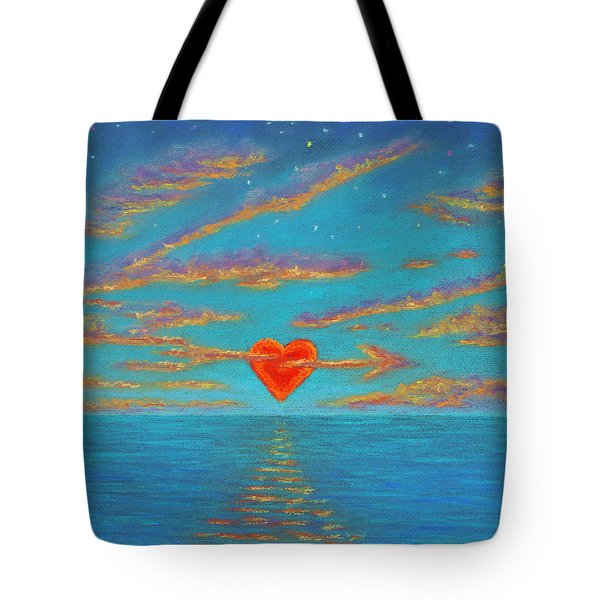 Sunset Heart 01 Tote Bag