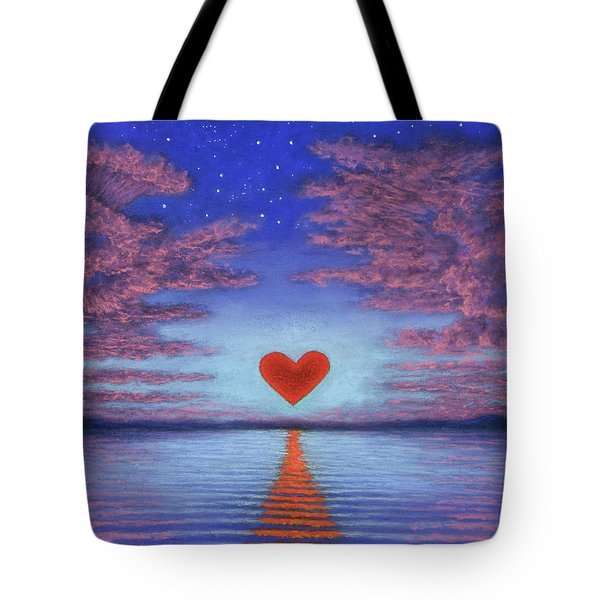 Sunset Heart 02 Tote Bag