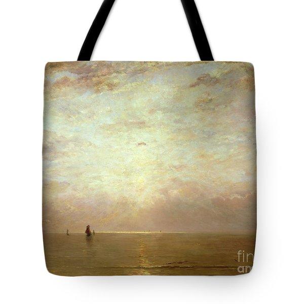 Sunset Tote Bag by Hendrik William Mesdag