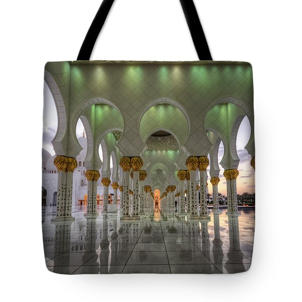 Tote Bag featuring the photograph Sunset Hindu Temple by John Swartz
