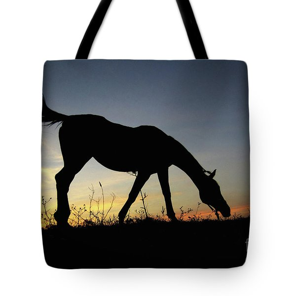 Sunset Horse Tote Bag
