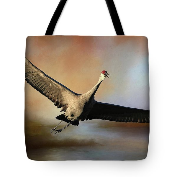 Sunset Hour Flight Tote Bag