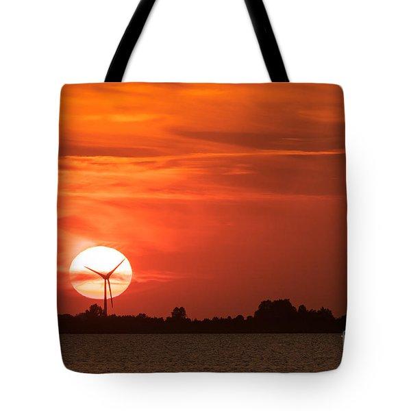 Sunset Husum Tote Bag