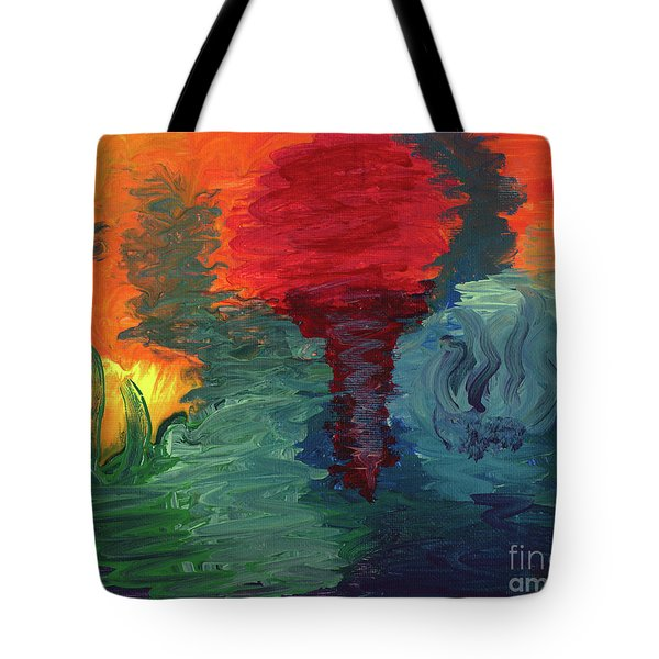 Tote Bag featuring the painting Sunset I by Ania M Milo