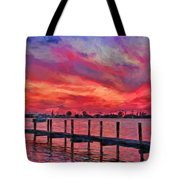 Sunset Impressionism Tote Bag