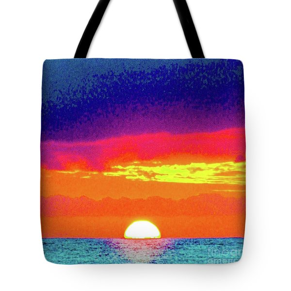 Sunset In Abstract 500 Tote Bag