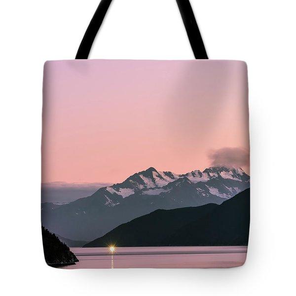 Sunset In Alaska Tote Bag