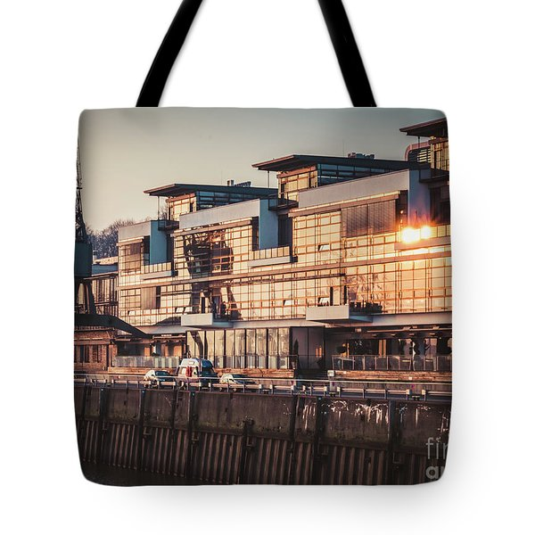 Sunset In Altona Hamburg Tote Bag