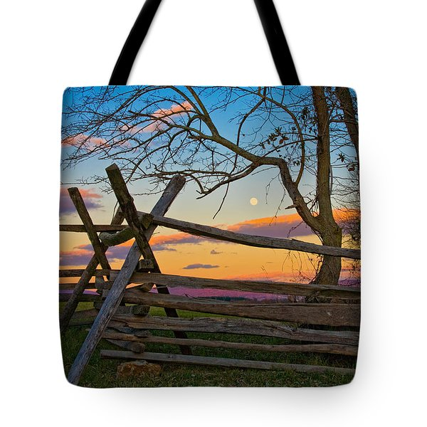 Sunset In Antietam Tote Bag