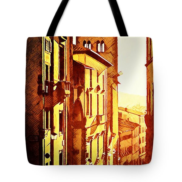 Sunset In Arezzo Tote Bag