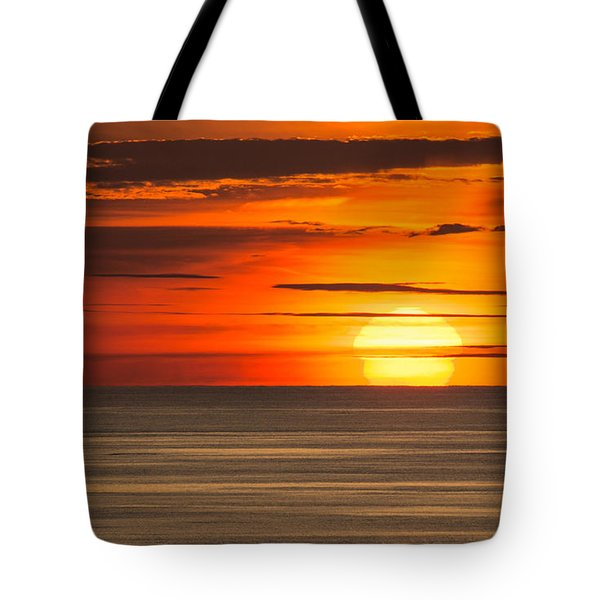 Sunset In Bermuda Tote Bag