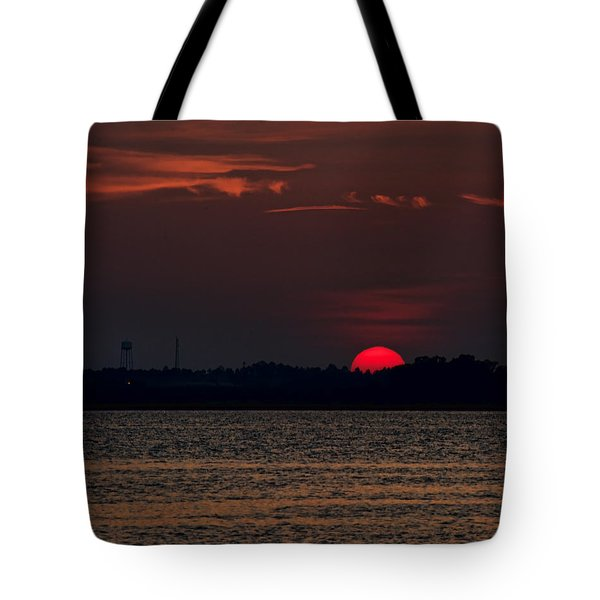 Sunset In Biloxi 3 Tote Bag
