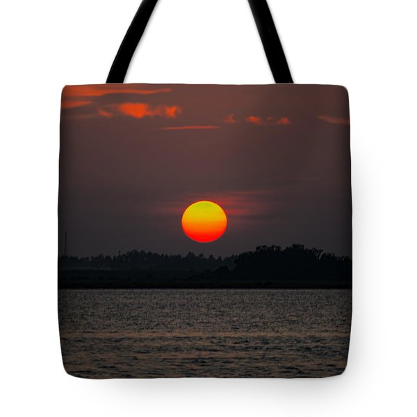 Sunset In Biloxi Tote Bag
