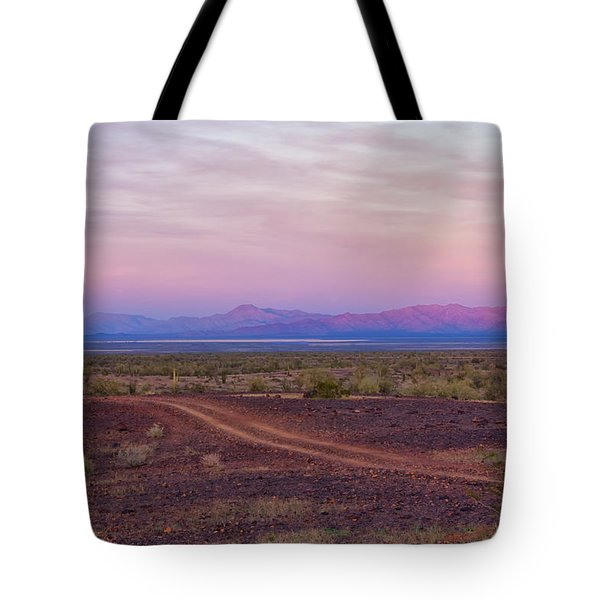 Sunset In Bouse Tote Bag