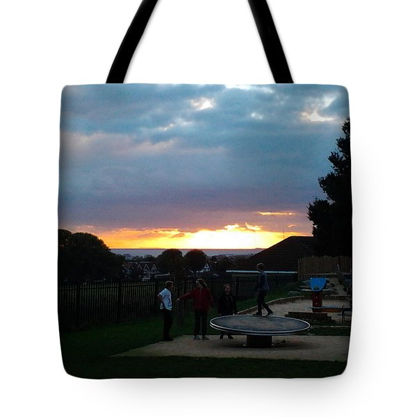 Sunset In Brighton Tote Bag