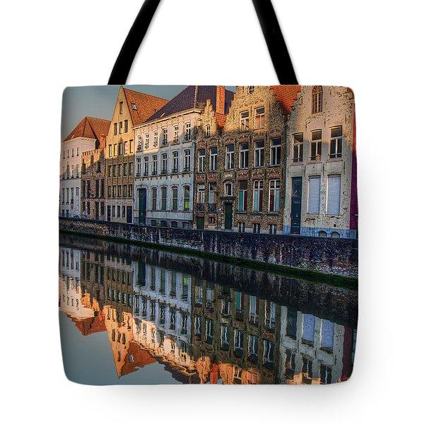 Sunset In Bruges Tote Bag